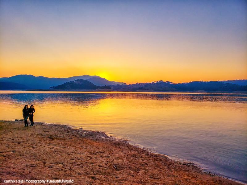 Sunset, Umiam Lake, Nehru Park, Shillong, Meghalaya