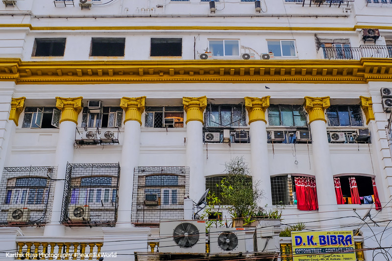 Beautiful facades, Park Street, Kolkata, India