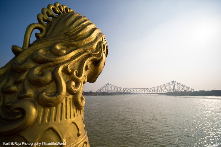 Howrah Bridge, Views from the Vivada Cruise, Hooghly River, Kolk
