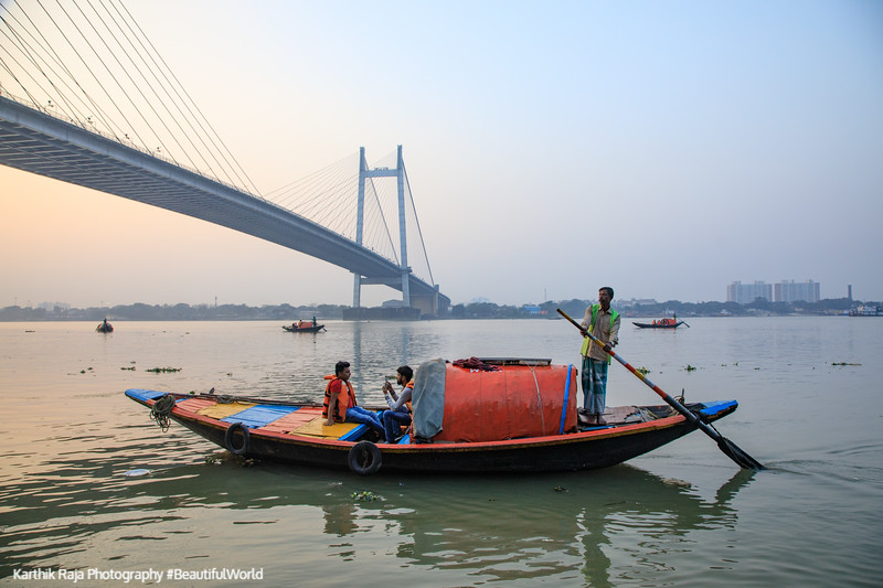 Vidyasagar Setu, Bridge, James Prinsep Ghat, Kolkata, India